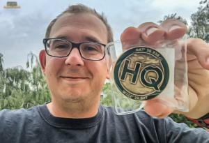 HQ Geocoin in Green